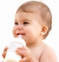 Baby drinking from bottle. Image shot 2008. Exact date unknown.