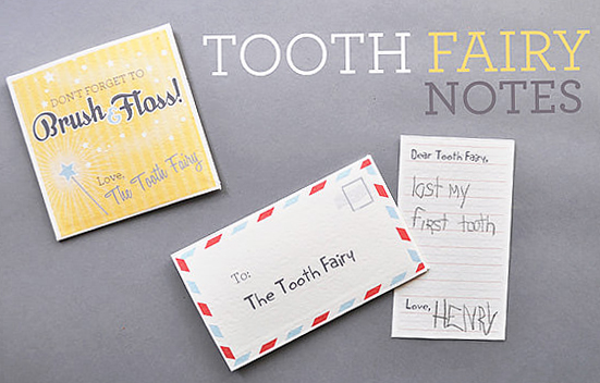 Notes Tooth Tooth Fairy Notes From